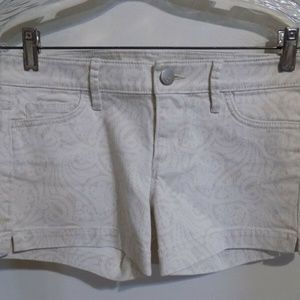 LOFT Print Denim Jean Shorts, 24/00 NEW